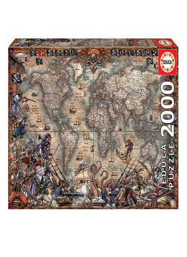Educa Educa Puzzle 2000 Parça Korsanlar Haritası 18008 Renkli